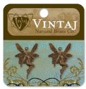 Vintaj Natural Brass Co. Jewelry Findings - Whimsical Fairy 25X17mm